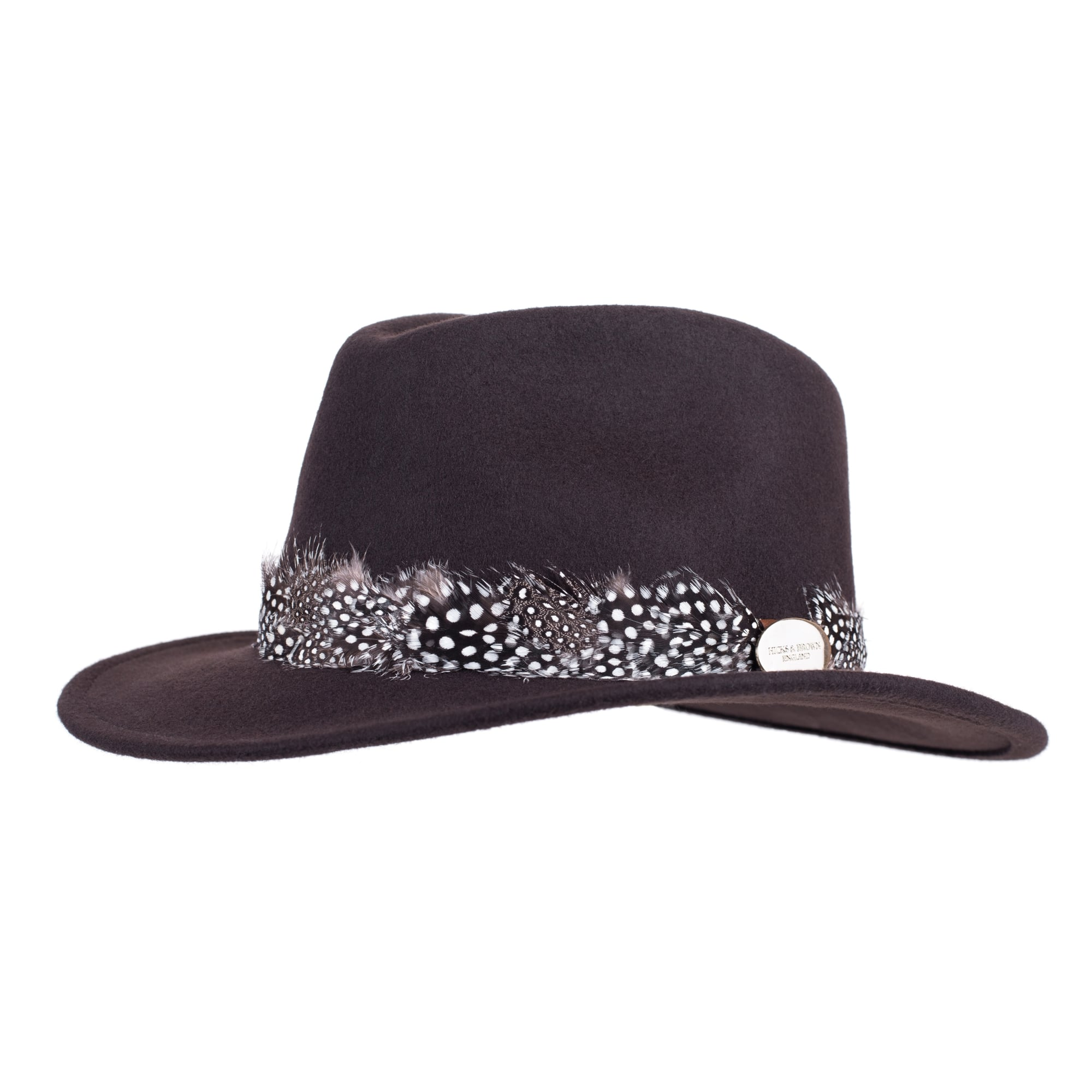Hicks And Brown Suffolk Fedora Guinea Trim Brown