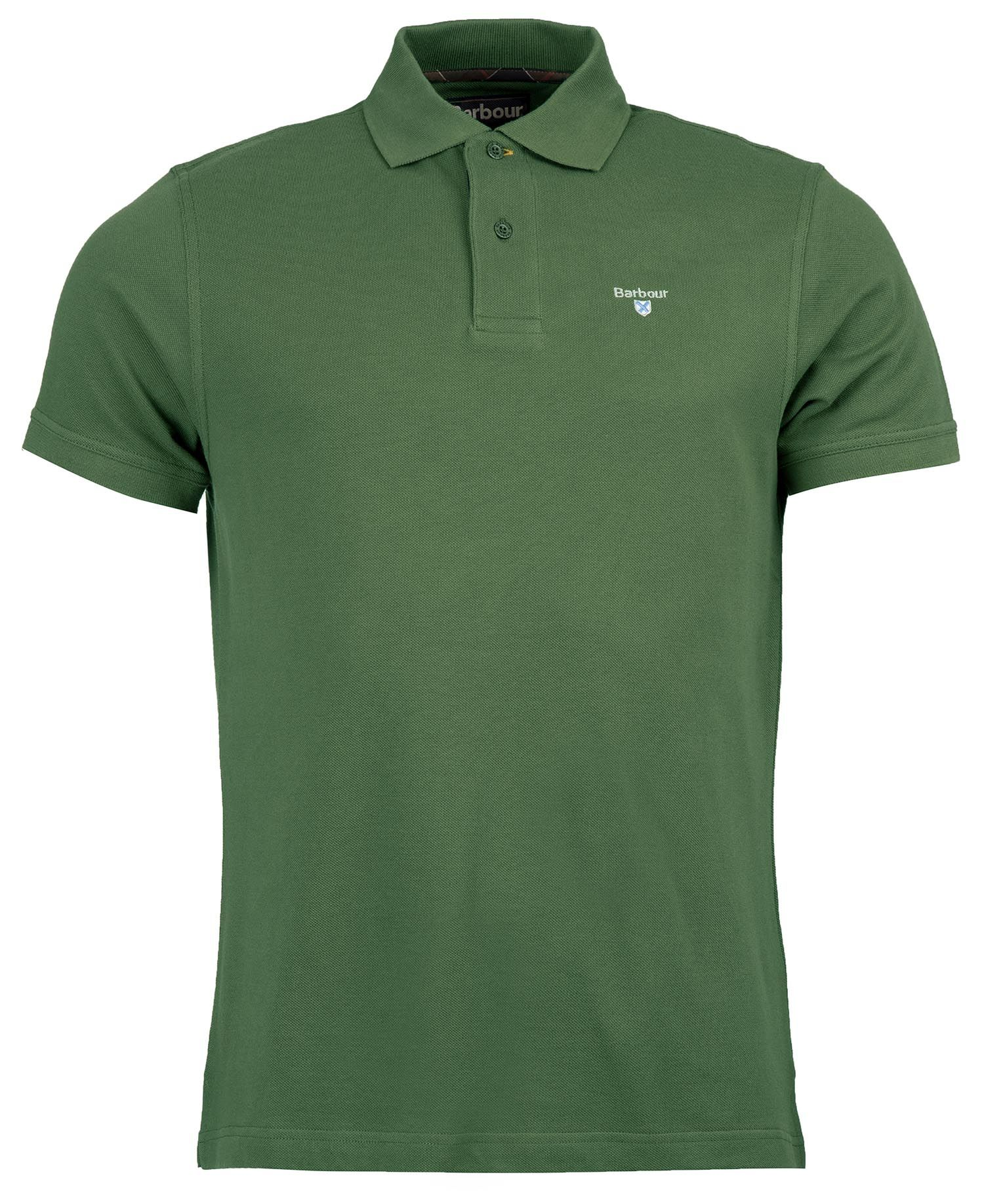Barbour Tartan Pique Polo Racinggreen