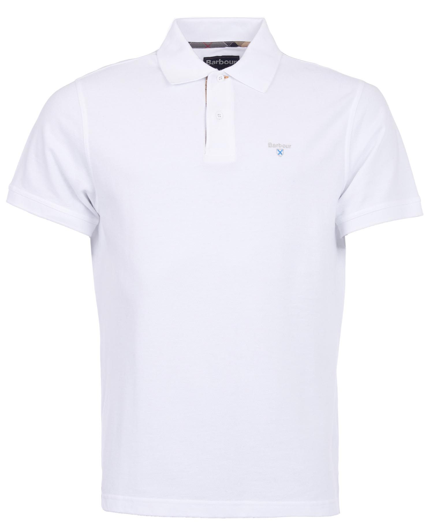 Barbour Tartan Pique Polo White