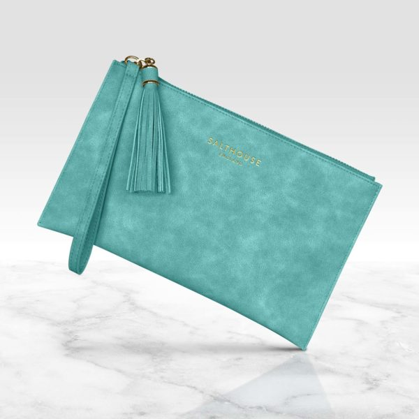 Salthouse Serafina Clutch Bag Turquoise