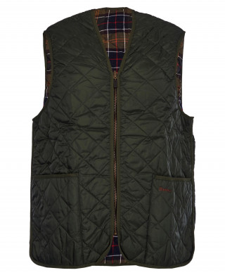 Barbour Quilted Zip In Waistcoat Olive